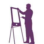 Creative services - Designer at Easel shaped like a mobile phone